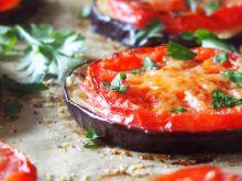 Zapiekany bakłażan z pomidorem