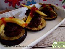 Bakłażanowe kanapeczki z kaszanką