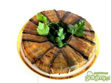 Bakłażanowy wieniec z makaronem i ragu'