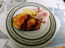 Bakłażany z mięsem mielonym i mozzarellą