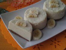 Bananowe mini serniczki na zimno