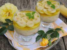 Bananowo-budyniowy  deser