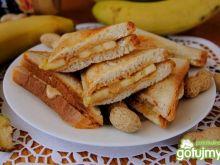 Bananowo-orzechowe tosty