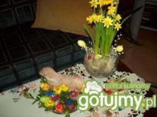 Baranek z ciasta na stół Wielkanocny