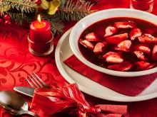Barszcz i zupa grzybowa na Święta