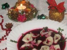Barszcz na rumianych warzywach i zakwasie