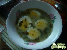 Barszcz szczawiowy z jajkiem