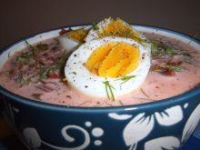 Barszczyk botwinkowy z jajkiem