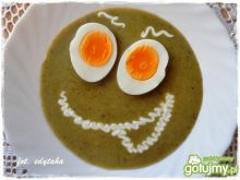 Barszczyk szczawiowy z jajkiem
