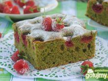 Bazyliowo-malinowe ciasto