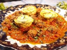 Berberyjski omlet z mięsem