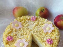 Bezglutenowy sernik z jabłkami