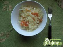 biała kapusta duszona z marchewką