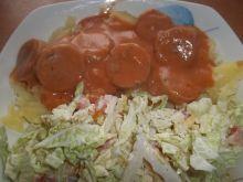 Biała kiełbasa w sosie pomidorowym