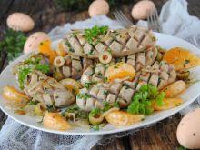 Biała kiełbasa z mandarynkami