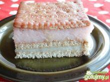 Biało-czerwone ciasto z kaszy manny
