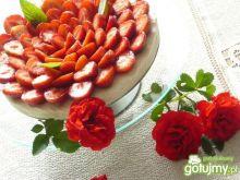 Biało- czerwony sernik na zimno