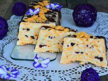 Biały blok czekoladowy z płatkami kukurydzianymi