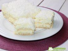 Biały puch z wiórkami kokosowymi