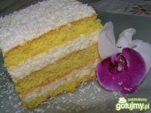 Biały tort