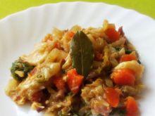 Bigos (z mięsem, warzywami i jarmużem)