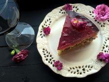 Biszkopt z rabarbarem i galaretką z hibiskusa