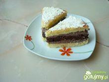 Biszkoptowe ciasto z masą czekoladową