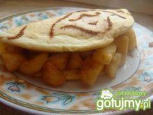 Biszkoptowy omlet z jabłkiem