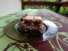 Blok czekoladowy z orzechami i skórką pomarańczową