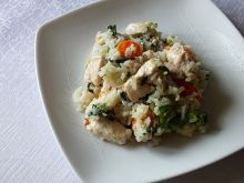 Błysakwiczne danie ryżowe z pokrzywą