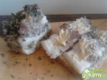Boczek czosnkowo-ziołowy do kanapek