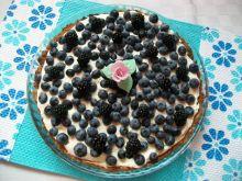 Borówkowa tarta z kremem z białą czekoladą