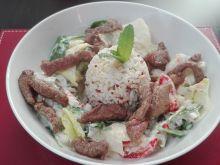 Brązowy ryż z quinoą i wołowiną