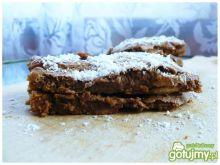 Brownie chlebowe z malinami