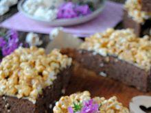 Brownie z popcornem