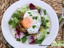 Bryzol z pieczarkami  i jajkiem