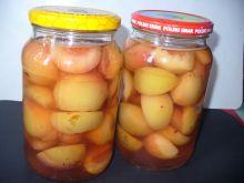 Brzoskwinie ze skórką do słoików