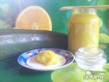 Brzoskwiniowy dżem  z cukinii.