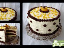Brzoskwiniowy tort 'Fantazja'