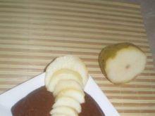 Budyń czekoladowy z gruszką