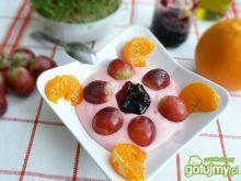 Budyń z konfiturą i owocami