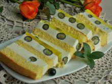 Budyniowe ciasto z borówkami