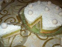 Budyniowo śnieżne ciasto
