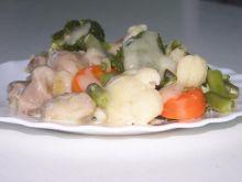 Bukiet warzyw z podrobami