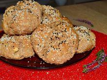 Bułeczki owsiano- żytnie z czarnuszką i sezamem