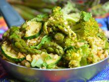 Bulgur z zielonymi warzywami