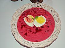 Buraczkowa z jajkiem