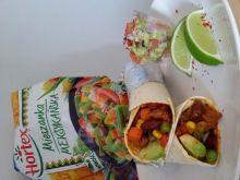 Burrito z wołowiną i warzywami