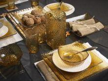 Bursztynowa zastawa stołowa