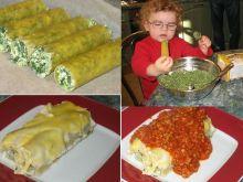 Cannelloni ze szpinakiem i sosem